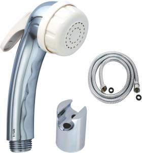 Kywin Abs Aqua White Health Spray With Cylindrical Hook & 1 Metre Flexible Tube Hand Shower Head