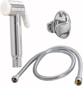 Sunrise Jolly Health Faucet With 1.5 Metre S.S. Flexible Hose And Pvc Wall Hook Shower Head