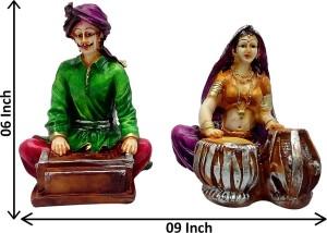 art n hub cultural rajasthani traditional couple statue handicraft