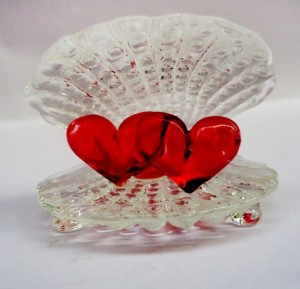c2b525f06 Glass Street seep dil Showpiece 5 cm Glass Red Clear Best Price in ...