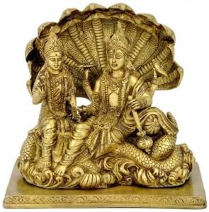 485bb9fde1f Redbag Shri Laxmi Narayan Showpiece 22 cm Brass Gold Best Price in ...