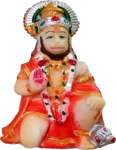 Jaiswal Art Hanuman Ji Idol For Car Dashboard Home Decor Showpiece