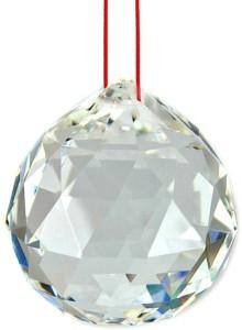 Sanshiv Fengshui Quartz Crystal Ball Showpiece - 5 cmCrystal, White