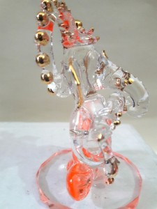 7baa0c1dc Glass Street Bansuri Ganesha Showpiece 8 cm Glass Orange Best Price ...