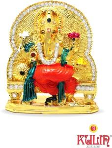 Kulin God Ganesh Ganpati Lord Ganesha Idol Car Dashboard Home Decor Gifting Showpiece 7 Cmgold Plated Multicolor