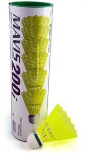 Yonex Mavis 200i Green Cap Nylon Shuttle  - Yellow