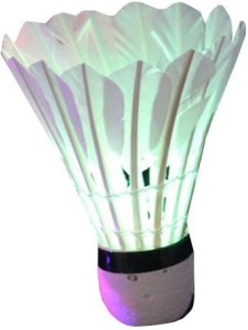 Futaba LED Badminton Nylon Shuttle  - White, Pink