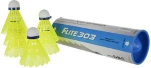 DSC Flite 303 Nylon Shuttle  - White, Yellow