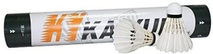 FANGCAN Tournament Feather Badminton Shuttlecock Feather Shuttle  - White, Black