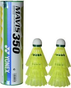 Yonex MAVIS 350 GRN YLW Nylon Shuttle  - Yellow