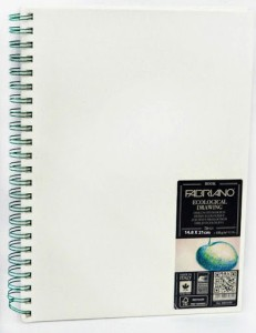 Fabriano Ecological Drawing Book Spiral Bound Portrait A5 Sketch Pad