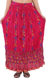 Magnus Floral Print Women's Regular Pink Skirt