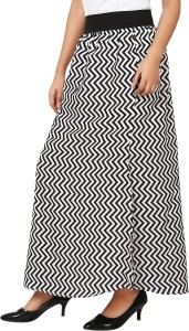 661df9236a Natty India Printed Women s A line Black White Skirt Best Price in ...