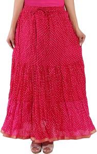 Decot Paradise Polka Print Women's Regular Pink Skirt