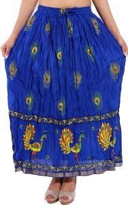 Magnus Animal Print Women's Regular Blue Skirt