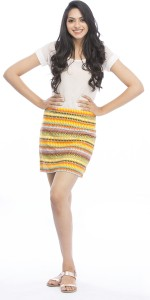 Pinwheel Striped Women's Regular Multicolor Skirt