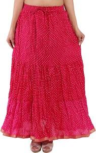 Magnus Polka Print Women's Regular Pink Skirt