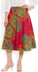 Very Me Printed Women's Pleated Purple Skirt