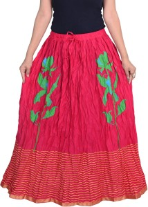 Decot Paradise Printed Women's Regular Pink Skirt
