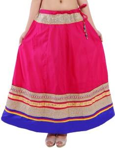 Magnus Solid Women's Regular Pink Skirt