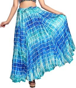 Carrel Striped Women's A-line Blue Skirt