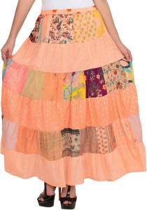 VS Fashion Printed Women's A-line Pink Skirt