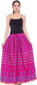 Magnus Printed Women's Regular Pink Skirt