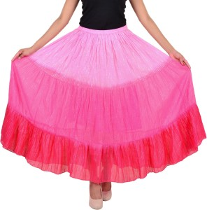 VS Fashion Solid Women's A-line Pink Skirt