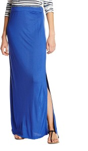 Creative India Exports Solid Women's Pencil Blue Skirt