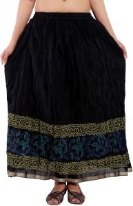 Magnus Solid Women's Regular Black Skirt