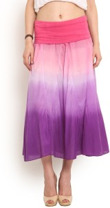 Trend Arrest Solid Women's Gathered Pink Skirt