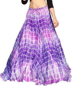 Carrel Striped Women's A-line Purple Skirt
