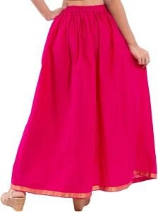 Decot Paradise Solid Women's Regular Pink Skirt