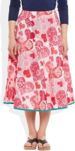 Very Me Printed Women's Pleated Pink Skirt