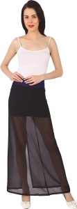 Ashtag Solid Women's A-line Black Skirt