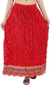 Magnus Printed Women's Regular Red Skirt