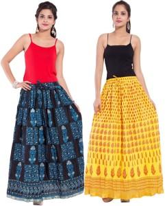 Magnus Printed Women's Regular Multicolor Skirt