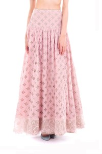 Forever 9teen Solid Women's Layered Pink Skirt