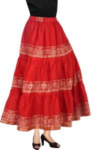 Magnus Printed Women Regular Multicolor Skirt
