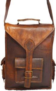 Craft World Men & Women Brown Leatherette Sling Bag