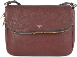130971451 Fossil Women Brown Genuine Leather Sling Bag Best Price in India ...
