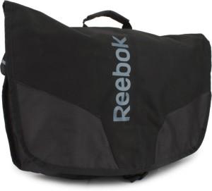 Reebok Men Black Polyester Sling Bag