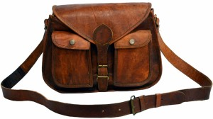 Craft World Women Brown Leatherette Sling Bag