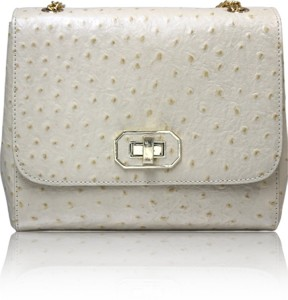 f464e6ec866d La Roma Women White Genuine Leather Sling Bag Best Price in India ...