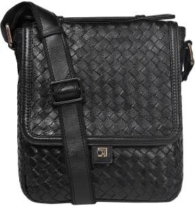 0f175affe9bb Da Milano Men Women Black Genuine Leather Sling Bag Best Price in India
