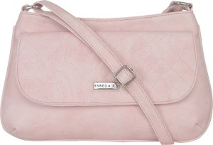 Esbeda Women Pink Leatherette Sling Bag