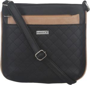 Esbeda Women Black Leatherette Sling Bag