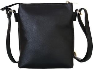 87092380f7212 Lychee Bags Women Black PU Sling Bag Best Price in India   Lychee ...