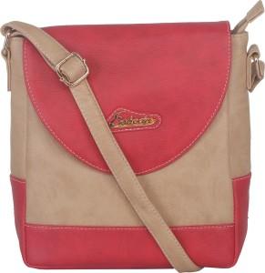 Esbeda Women Red Leatherette Sling Bag