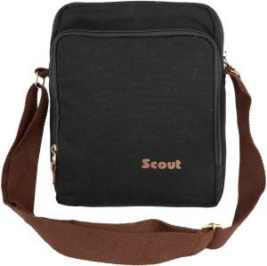 Scout Men Women Black Canvas Sling Bag Best Price in India  3748061dda9da